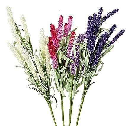C & C Products 4 colores Artificial flor de lavanda de decoración de boda a la