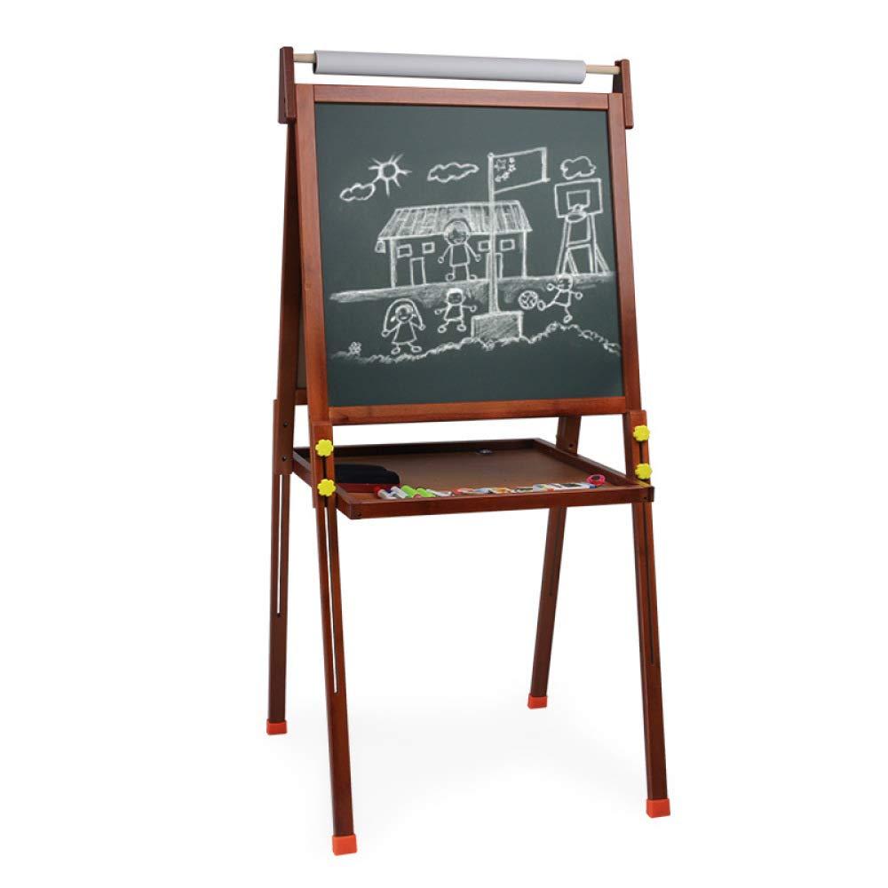 ARTES Los Niñ os De Madera De Los Niñ os De Doble Cara Tablero Blanco Negro Mesa De Dibujo De Caballete Learning