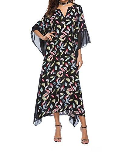 c13578492c790 Flowy Rhinestone Long Caftan Beach Maxi Dress Sexy Cover Up For Women