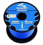 Audiopipe 16 GA 100 feet Blue Car Audio Home Primary Remote Wire