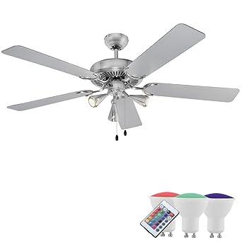 Design LED Decken Klima Ventilator Zugschalter Sommer Winter Leuchte D 132cm
