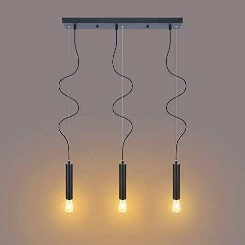 Industrial Pendant Light Fixtures for Dining Room,Kitchen Island Lights with E26 Base,Interior Ceiling Light for Living Room Bedroom,Pendant Lamps for Gallery,Decor Chandelier,Adjustable