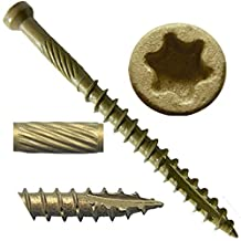 """#7 x 1-5/8"""" Bronze Star Exterior Coated """"Tiny"""" FINISH HEAD Wood Screw Torx/Star Drive Head (1 Pound) - Finish Head Exterior Coated Torx/Star Drive Wood Screws - Tiny Head Wood Screws"""