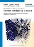 Frontiers of Electronic Materials, , 3527411917