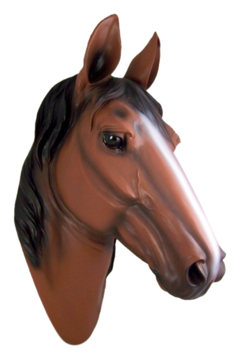 Chestnut Horse Head Bust Wall Mount
