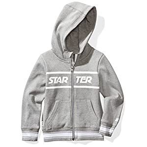 Starter Girls' Full-Zip Logo Hoodie with Striped Rib, Prime Exclusive