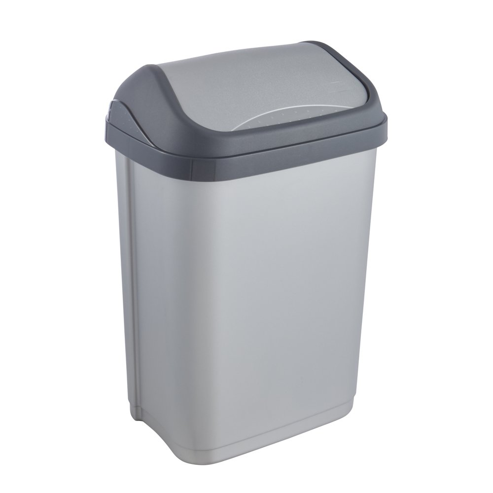 keeeper Abfallbehälter mit Schwingdeckel, 10 l, Swantje, Graphit Grau keeeper GmbH 1030682600000
