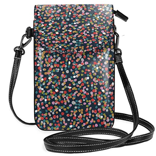 Ashley Shoulder Bag - Small Cell Phone Purse Crossbody Cellphone Shoulder Bag Ashley Dots Smartphone Wallet Purse with Removable Strap