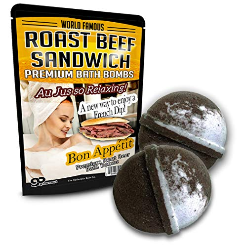 - Roast Beef Sandwich Bath Bombs XL Root Beer Bath Bombs Luxury Bath Balls Funny Girlfriend Gags for Best Friends Bath and Body Gags for Men Funny Spa Gifts for Men Weird Gifts Au Jus French Dip
