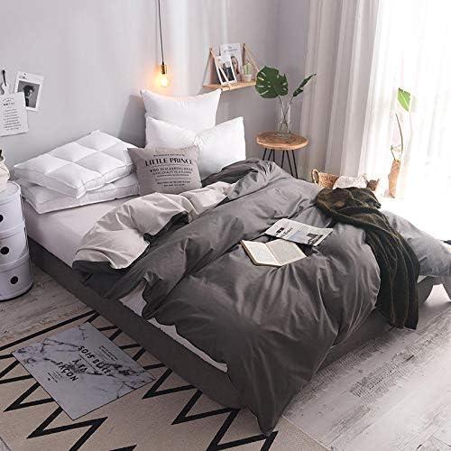 Zhiyuan Funda nórdica 100% algodón, cama 150cm, Gris oscuro ...