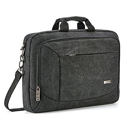 Laptop Messenger Bag, Evecase Laptop Canvas Messenger Bag with Handles, Shoulder Strap, and Multiple Accessory Pockets