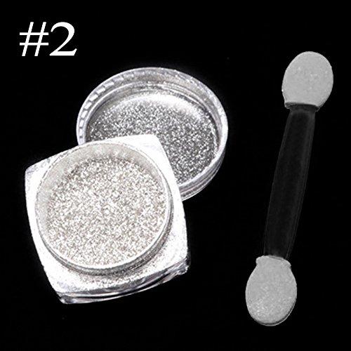 Nagel Glitzerpuder,Spiegel Glitter Chrom Effekt Nail Art Pulver