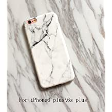 iPhone 6plus/6s plus case Marble, ModaKeusu iPhone6 iPhone6S Case Slim-Fit New Glamour Series Flexible Soft TPU cover Shock Proof Dust Proof Anti-Finger Print Phone case 5.5inch (White)