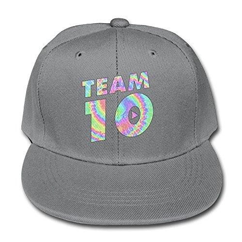 Kddcasdrin Team10 Tie Dye Jake Paul Adjustable Cotton Baseball Cap for Kid