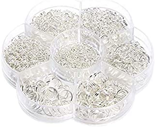 One Box Jewelry Jump Rings Assorted Size Open Ring Connecting Ring DIY Ring for Necklace Bracelet Silver