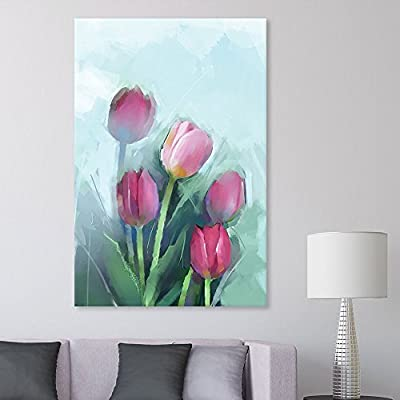 Created Just For You, Delightful Composition, Red Tulip Flowers