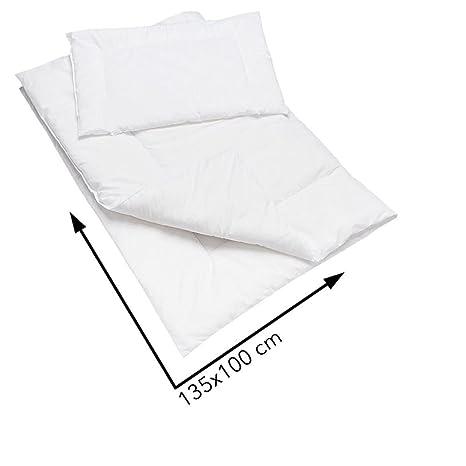 Hipoalergénico para edredón y almohada Set 135 x 100 cm para bebé cuna cama