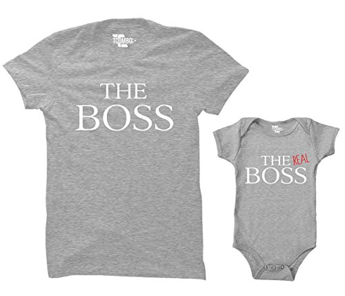 The Boss/The Real Boss Matching Bodysuit & Women's T-Shirt...