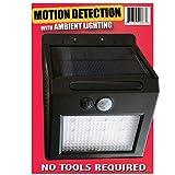 iPrimio - Stick and Mount - Solar Outside Lights Motion Sensor - LED Solar Motion Light for Home -''Dusk to Dawn Ambient Light'' - Motion Outside Lights, Solar LED Light Landscape Lighting, (4 Pack)