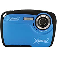 Coleman Xtreme II C12WP-BL 16MP Waterproof Digital Camera with 2.5-Inch LCD Screen (Blue)
