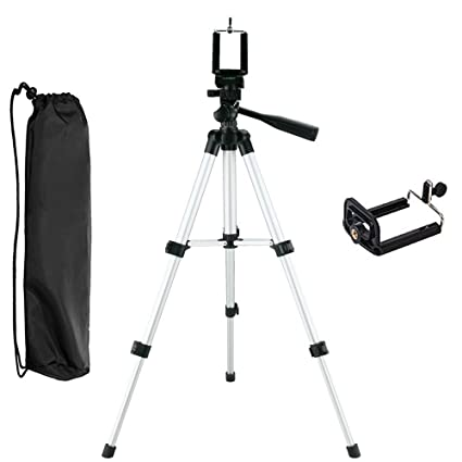 new arrival 58132 e2c70 NUTK iPhone Camera Tripod, Portable Adjustable Aluminum Lightweight Camera  Stand with Smartphone Holder Mount for iPhone X/ 8/7/7 Plus 6s Plus 6 SE 5  ...