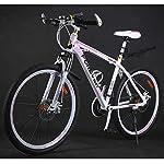 Bicicletta-della-Montagna-26-Pollici-Donna-Acciaio-Mountain-Bike-2427-ad-Alta-velocit-di-Carbonio-Telaio-Dual-Shock-Freno-a-Disco-Adulta-della-Bicicletta-Size-24-Speed