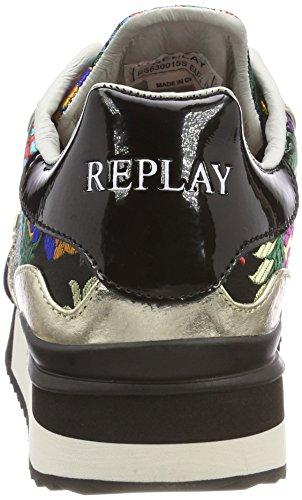 Replay Damen Afval Sneaker Schwarz (zwart)