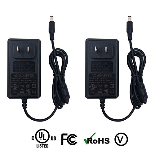 [UL Listed] ZIUMIER AC to DC 12V 3A Power Supply Adapter,5.5mm x 2.1mm Barrel Plug, 36W Regulated Transformer for LED Strip Lights ,CCTV Security Camera DVR NVR,LCD Monitor TV,2 Pack