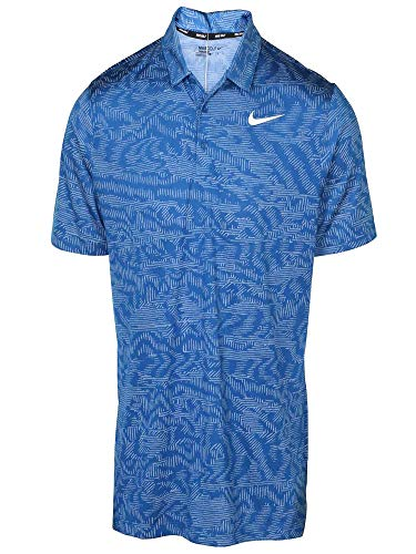 Nike Men's Breathe Jacquard Polo Golf Shirt-Blue Jay-XL (Jacquard Polo Golf Shirt)