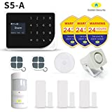 Golden Security Home Alarm System S5-A Wireless Smart Home with LCD Screen, working with WIFI/GSM on IOS/Android. Compatible with siren, doorbell, PIR motion sensor, door/window sensor, and etc.