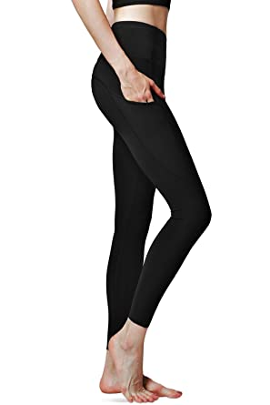 0ff53343bf85f Amazon.com: CHICMODA Yoga Pants With Pockets Workout Running ...