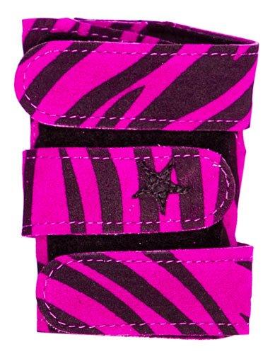 Power Up Gymnastics Wrist Supports - Animal Prints, Fuschia Zebra, S