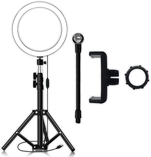 Phone Clip and Carrying Case for YouTube Video Shooting WenFei shop Ring Light 18in External 96W//5500K Dimmable LED Ring Light Lighting Kit with Stand