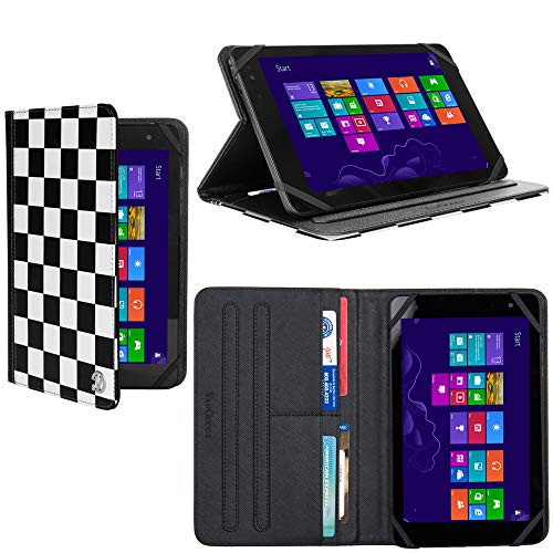 Universal 7 to 8 Inch Tablet Stand Case Folio Cover Fit Acer Iconia One 8, Iconia One 7, Voyo X7, LG G Pad X II 8.0 Plus, Amazon Fire HD 8 2018, HP Pro 8 (7 Rubber Tablet Hp Cover For)