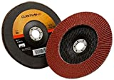 3M Cubitron II Flap Disc 967A, T29 Giant 4-1/2'' x 7/8'', 80+ Manufacturer Grade, Y-Weight (Pack of 10)