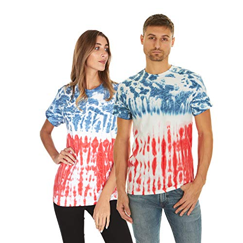 Krazy Tees Tie Dye T-Shirt, Flag, 2XL
