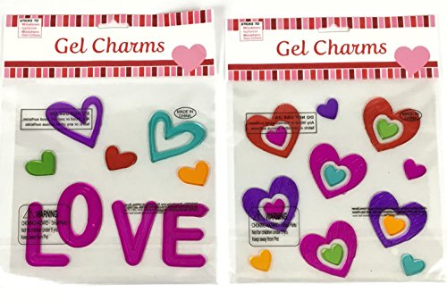 Valentines Day Holiday Gel Clings Love Hearts Window Charms Decoration