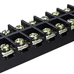 Ninth-City 2pcs 12 Position Double Row Wire Screw Terminal Connector Electric Wire Strip Covered Barrier Panel Block 600V 15A 12P