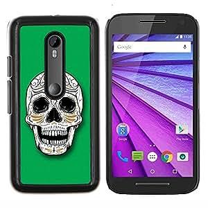 For Motorola MOTO G3 / Moto G (3nd Generation) Case , Cráneo del azúcar de Illuminati- Diseño Patrón Teléfono Caso Cubierta Case Bumper Duro Protección Case Cover Funda