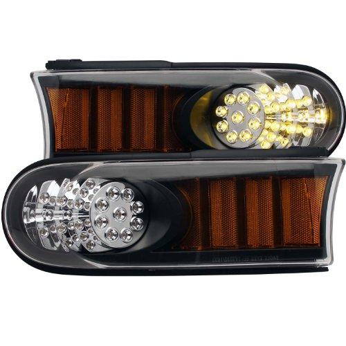 HEADLIGHTSDEPOT Park Light Compatible with Toyota FJ Cruiser Black LED Bumper Corner Signal Lights