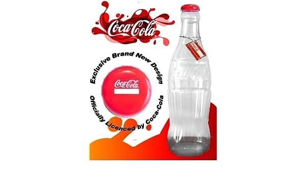 Hucha gigante de plástico, diseño de botella de Coca Cola. 60 cm de altura. Licencia oficial: Amazon.es: Juguetes y juegos