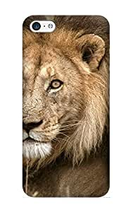 Fireingrass Iphone 5c Well-designed Hard Case Cover Lion Picture Protector For New Year's Gift