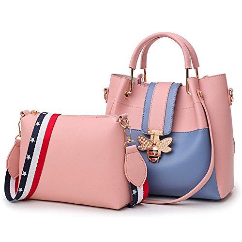 Printemps Pink Sac Meaeo Sac Style Godet Nouveau Grand Unique Sac Bandoulière Épaule Mère À Rose Sac gR07gwZq
