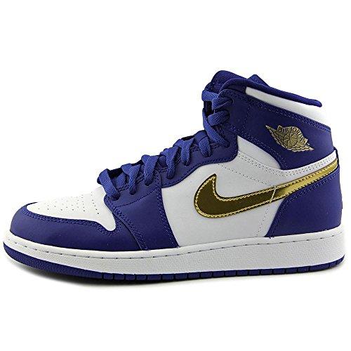 Nike Herren Air Jordan 1 Retro High Bg Basketballschuhe Azul (Azul (deep royal blue/mtlc gold coin-white))
