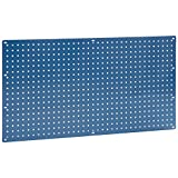 Heavy Duty Steel Pegboard, Blue, 36'' x 19''