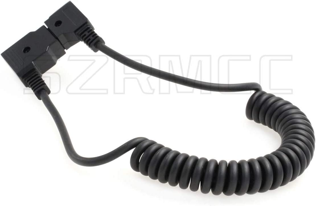 Straight Cable SZRMCC Interface Conversion Cable D-Tap 2 Pin Male to Female for IDX Anton Bauer Battery ARRI Red Camera