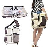 3 in 1 Baby Diaper Bag Portable Foldable Mom Travel Bassinet