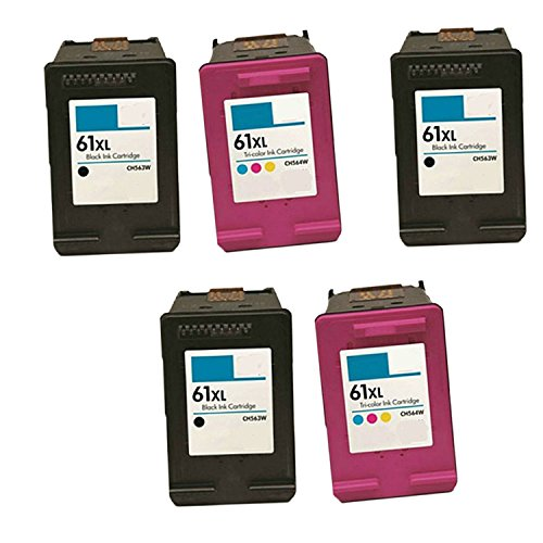 Generic Remanufactured Ink Cartridge Replacement for 3x For HP CH563WN + 2x CH564WN (3Black,2Color , 5-Pack )