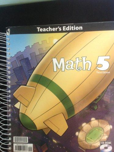 Math 5 Teacher Edition with CD 3rd Edition