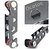 Oceloc Lightweight Compact Smart Key Holder Pocket Keychain Organizer - New And Unique Design - Up To 2-12 Keys With Multifunctions - Smartphone Stand, Bottle Opener, Mini Wrench And Metal Hook